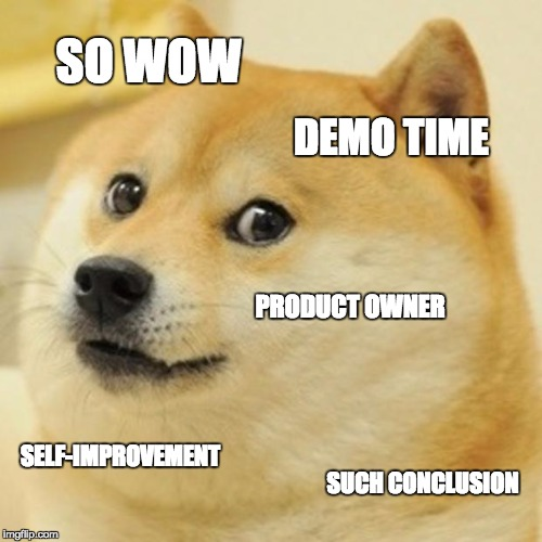 So Wow, Demo Time, Product Owner, Self-Improvement, Such Conclusion